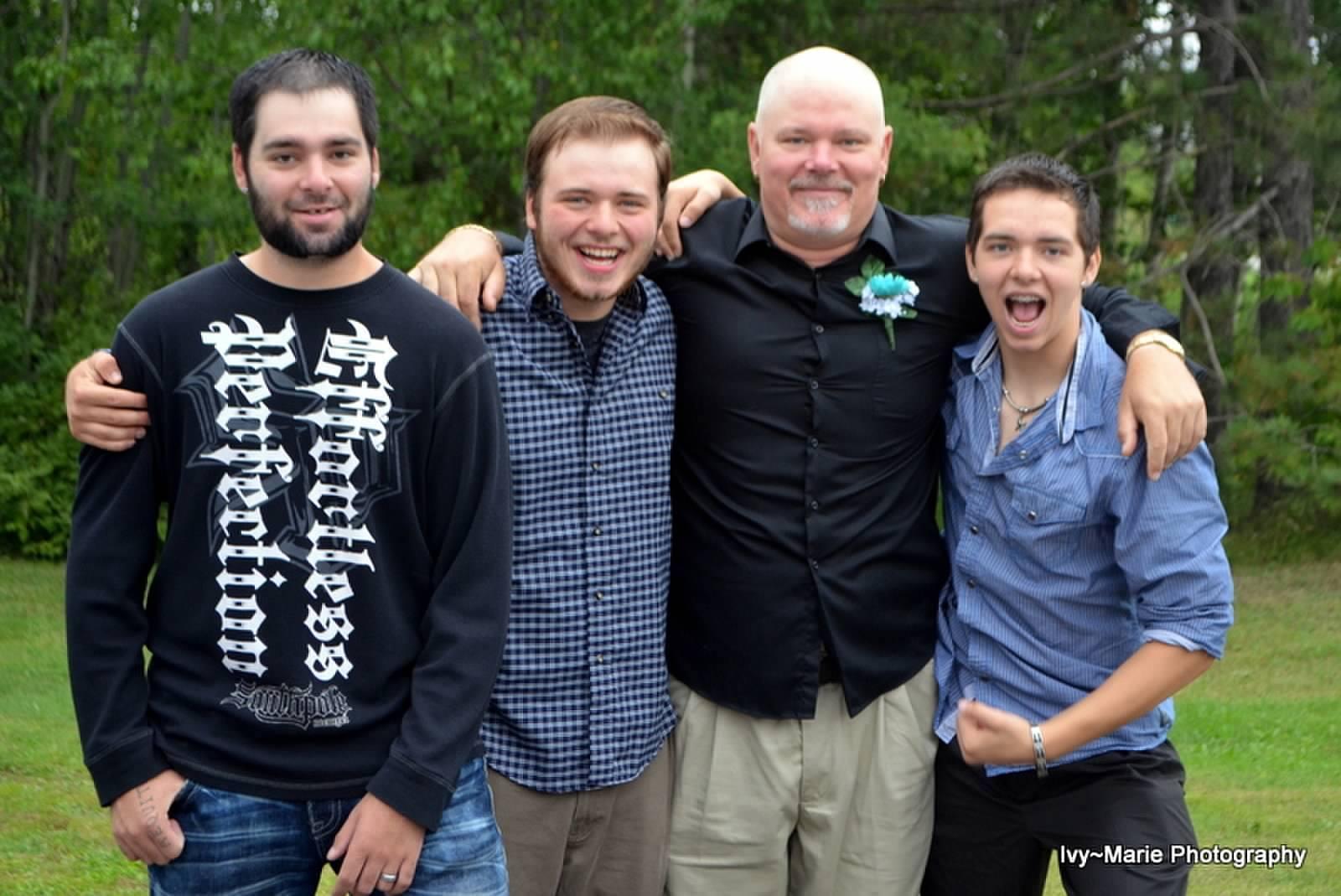 My three sons, Ricky, Josh And John and me