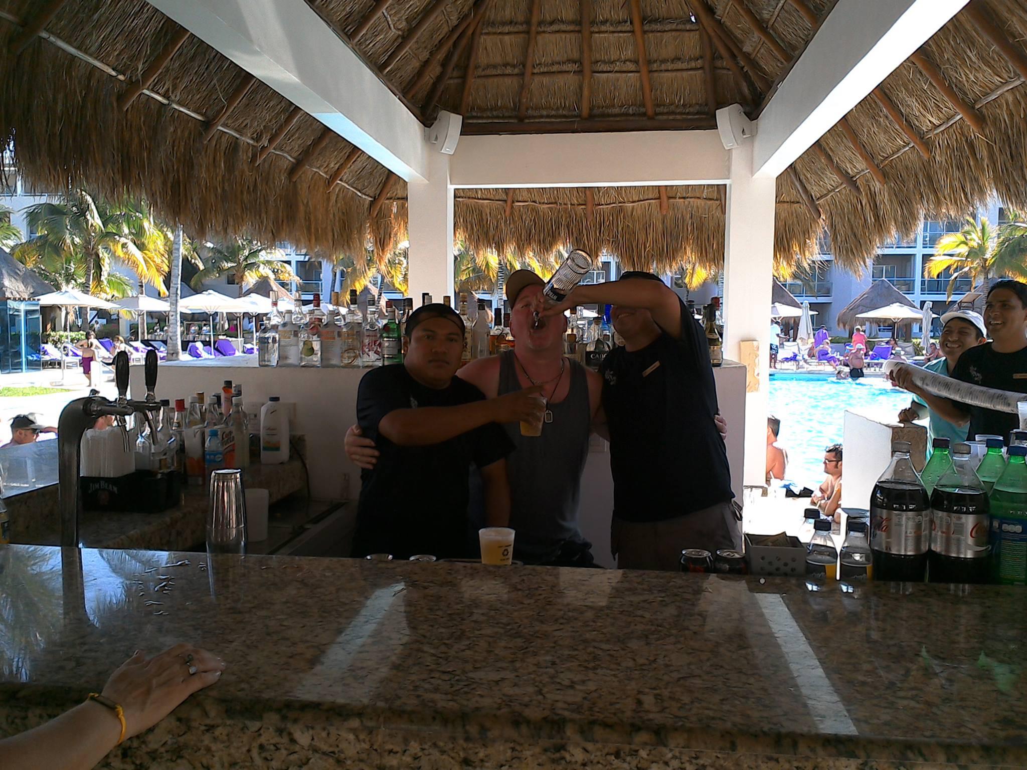 Richard Weberg partying in Playa Del Carmen, Mexico