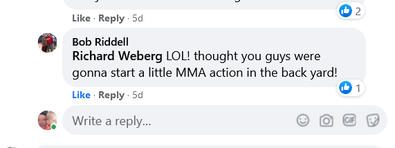 Bob Riddells comment on my Faceook post about my octagon I am building