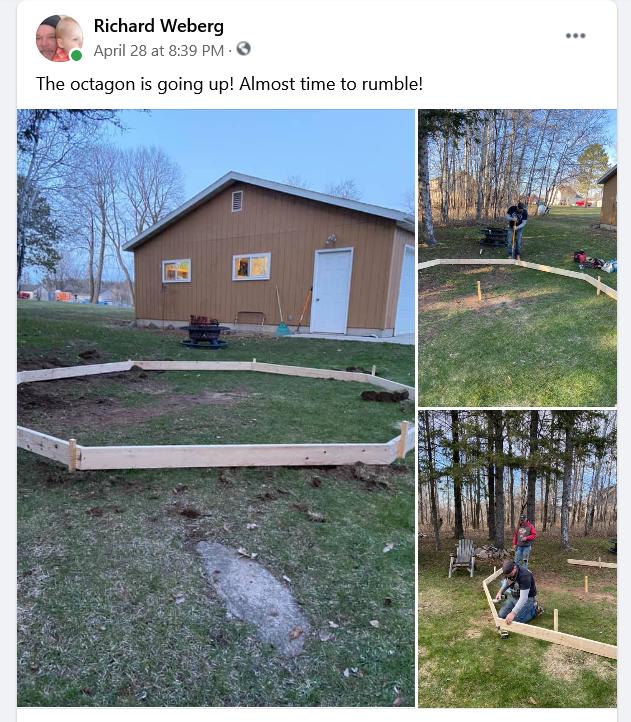 My Original octagon Facebook post