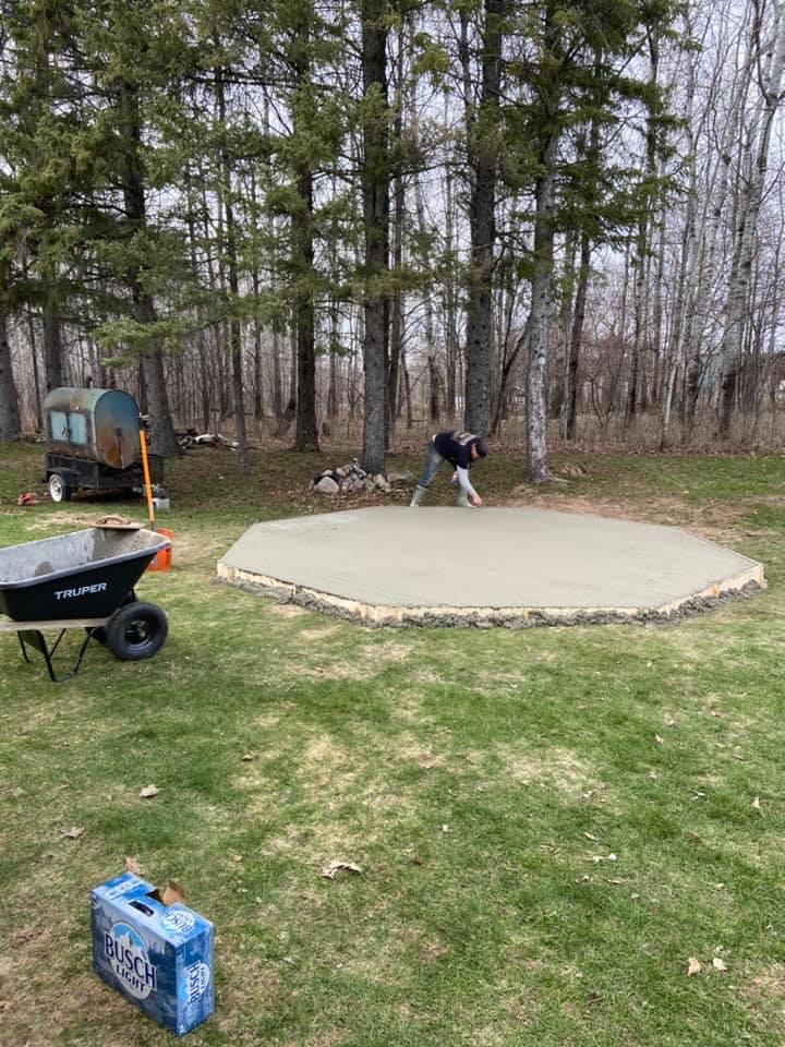 My friend TJ Ennen finishing the cement