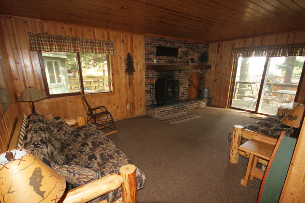 Towering Pines cabin inside view