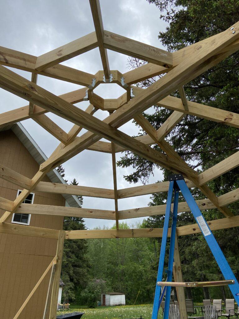 octagon gazebo rafters