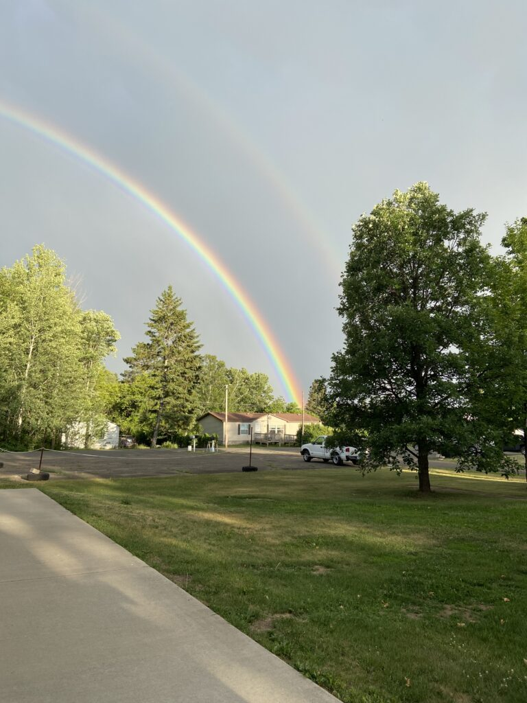 my picture of half a rainbow