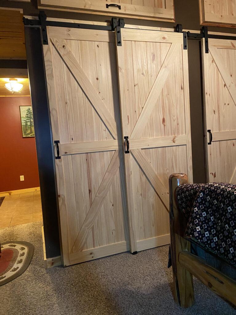 Homacer single track bypass barn door hardware kit